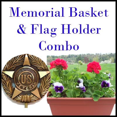 flag holder basket combo