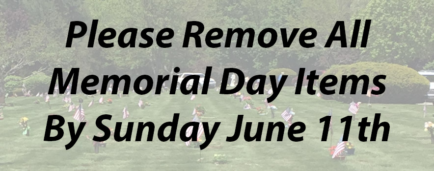 memorial day flower removal 2017