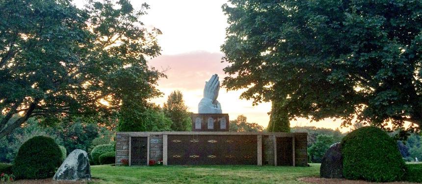 Praying Hands Sunset Ad